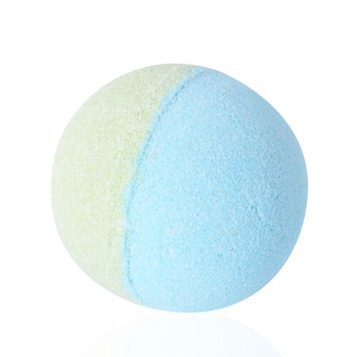 Set of 3 Ocean Scent Bath Bomb Blue and Green with Soap Flower Blue and White (Size 18.6x7.3x7.2 Cm)