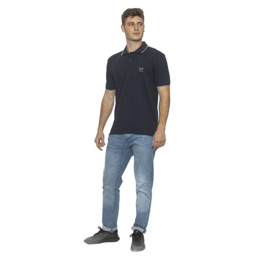 19V69 ITALIA Short Sleeve Basic Polo Shirt (Size M) - Blue/Navy