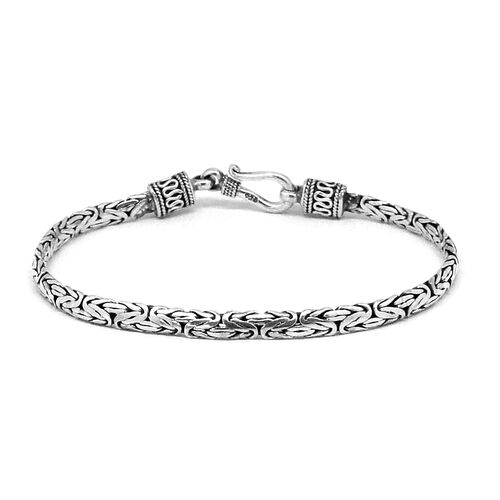 Royal Bali Collection Sterling Silver Borobudur Bracelet (Size 7.5), Silver wt 10.02 Gms.