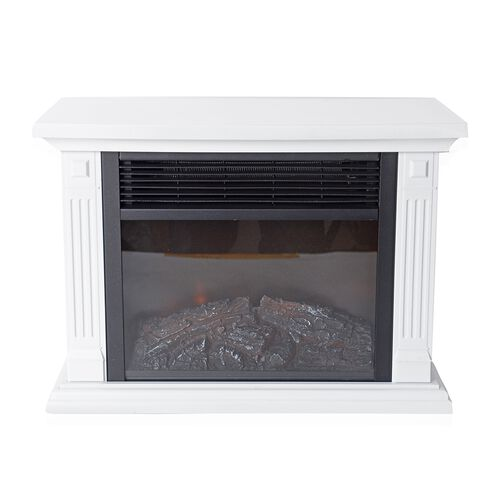 Home Decor - Multi-Function Electric Fireplace Heater (Size 36.8x18.5x25.5 Cm) - White Colour 500W/1000W