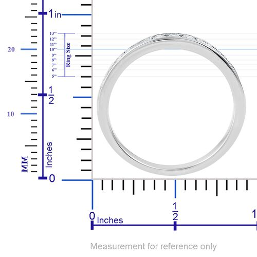 RHAPSODY 0.50 Carat Diamond (VS/E-F) Half Eternity Band Ring  in 950 Platinum