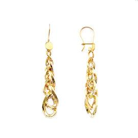 9K Yellow Gold Dangle Hook Earrings, Gold Wt. 5.30 Gms