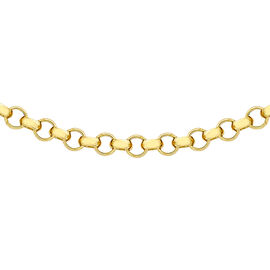 Hatton Garden Close Out 9K Yellow Gold Belcher Necklace (Size 20),  Gold Wt. 3.60 Gms