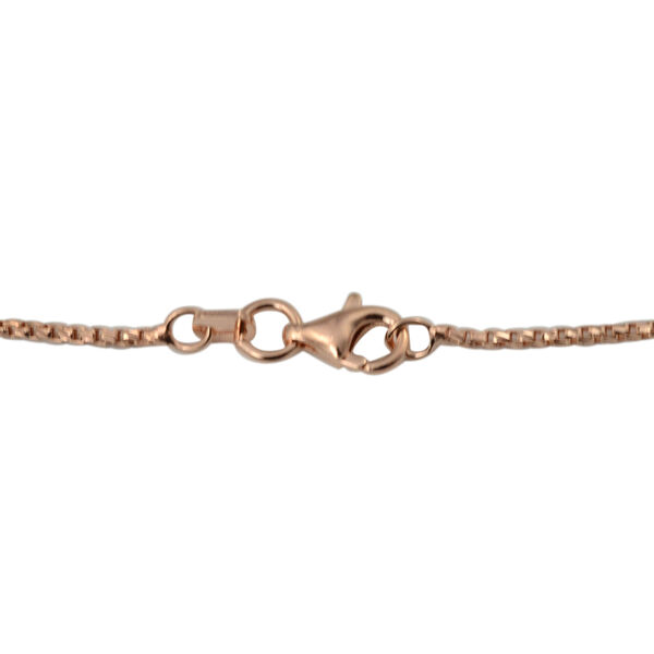 Italian Made Rose Gold Overlay Sterling Silver Chain (Size 20)