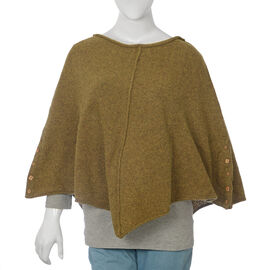 80% Wool Olive Green Colour Poncho
