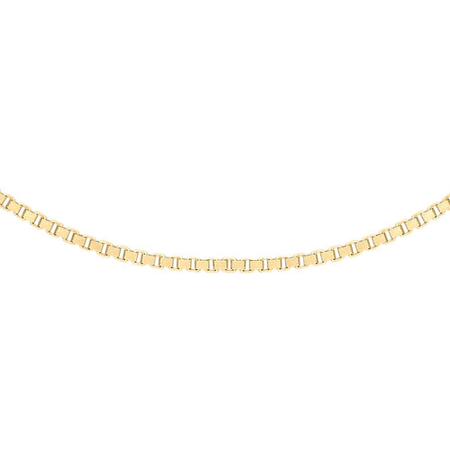 One Time Deal- 9K Yellow Gold Venetian Box Chain (Size 24)