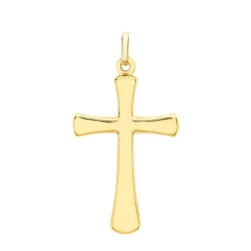 9K Yellow Gold Cross Charm Pendant