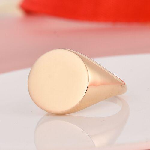 9K Yellow Gold Signet Ring, Gold wt 4.45 Gms