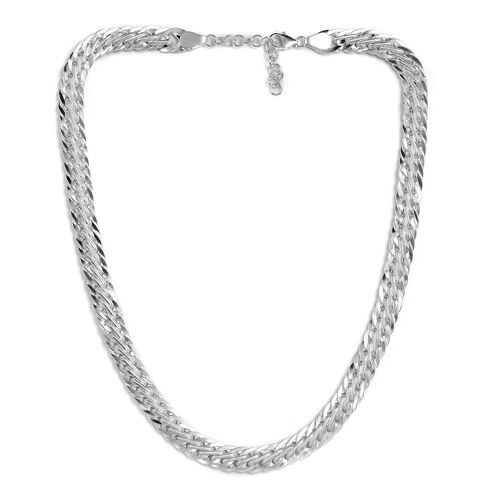 Chain Necklace in Sterling Silver 21 Inch
