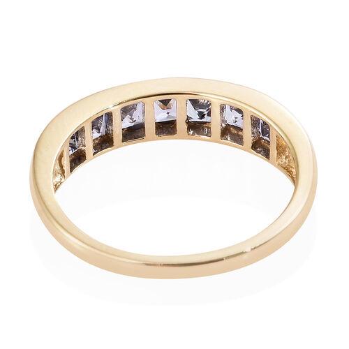 Limited Edition- 9K Yellow Gold AA Tanzanite (Princess Cut) Ring 1.000 Ct.