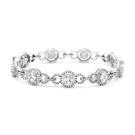 NY Close Out Deal - 14K White Gold Diamond (SI-I1/GH) Bracelet (Size-7) 4.15 Ct, Gold wt 13.63 Gms