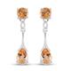 2.25 Ct Citrine Drop Earrings in Sterling Silver
