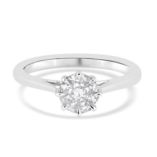 New York Close Out 0.50 Ct Diamond I1 GH Ring in 14K White Gold