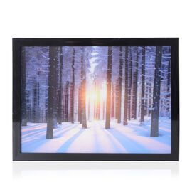 Home Decor - 3D Tree Painting with MDF Wooden Photo Frame (Size 39x29x2.8 Cm)