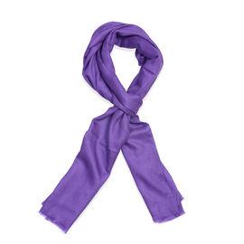 100% Cashmere Wool Ultra Violet Colour Scarf (Size 200x70 Cm)