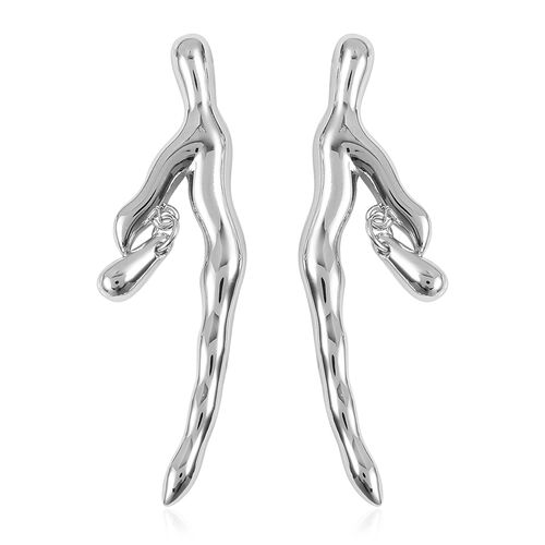 LucyQ Rainforest Collection Earrings (with Push Back) in Rhodium Plated Sterling Silver 7.20 Gms.