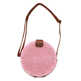 Handmade Light Summer Bag with Adjustable Shoulder Strap and Magnetic Clasp Opening (Size 18x18x7 Cm