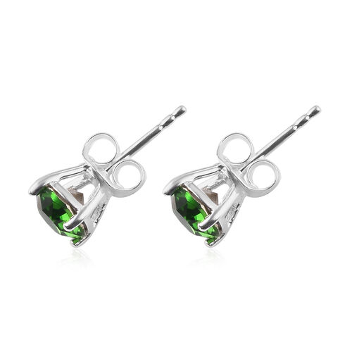 3 Piece Set - J Francis Crystal from Swarovski  Fern Green Crystal Solitaire Ring, Pendant and Earrings in Sterling Silver