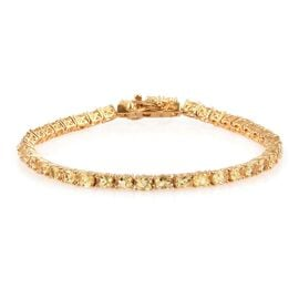 Tanzanian Scapolite (Ovl) Tennis Bracelet (Size 7) in 14K Gold Overlay Sterling Silver 7.000 Ct. Silver wt 7.00 Gms.