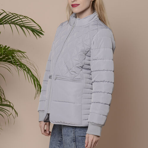 Winter Quilted Jacket with Removeable Faux Fur Neckline