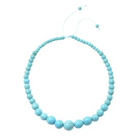 HONG KONG COLLECTION- Blue Howlite Graduated Adjustable Necklace (Size 18 -24) 288.500 Ct.