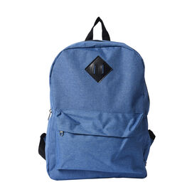 Blue Backpack with Zipper Closure (Size 30x11x40cm)