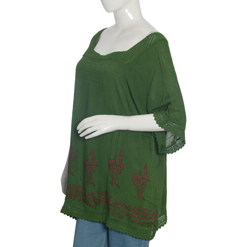 Vivacious Green Top One Size fit to all