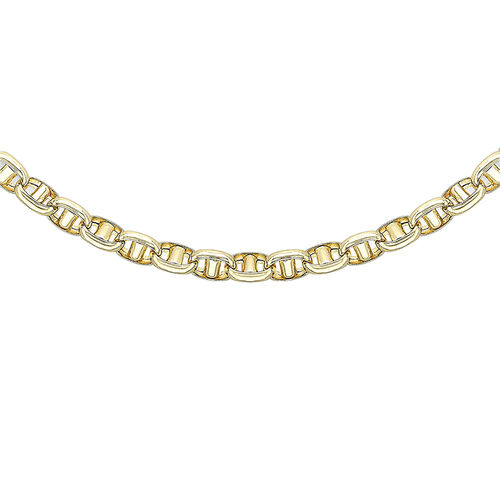 Italian Made - 9K Yellow Gold Rambo Necklace (Size 20), Gold wt 12.40 Gms.