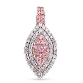 9K Rose Gold Natural Pink Diamond and White Diamond Pendant 0.52 Ct.