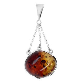 Natural Baltic Amber Pendant in Sterling Silver, Silver wt 8.50 Gms