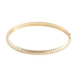 Royal Bali Collection 9K Yellow Gold Diamond Cut Bangle Medium (Size 7.5), Gold Wt 5.04 Gms