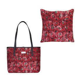 SIGNARE - Set of Two Charles Rennie Mackintosh Design Tote Handbag (W 33cm x H 27cm x D 15cm) with M