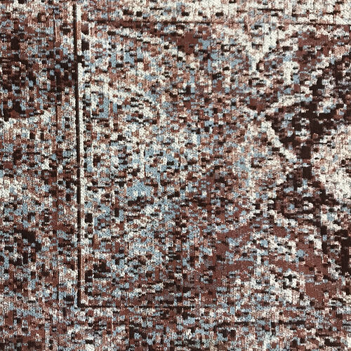 95% Cotton Chenille Jaquard Persian Pattern Runner Rug (Size 240x80 Cm) - Multi