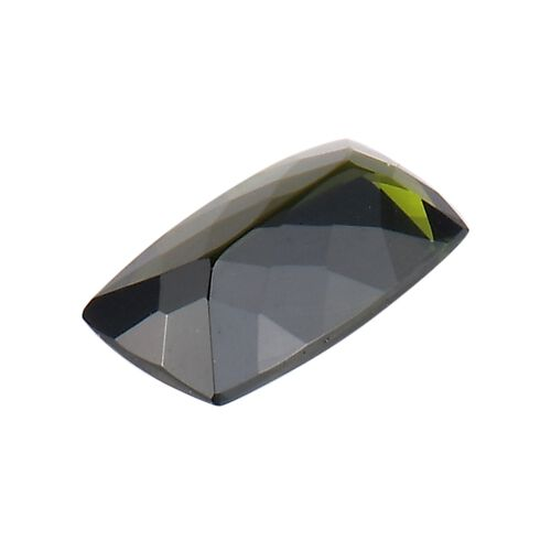 AA Green Tourmaline Cushion 9x5 Faceted 1.24 Cts