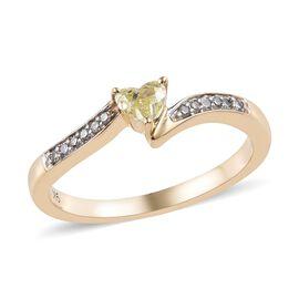 Diamond 9K Y Gold Ring  0.250  Ct.