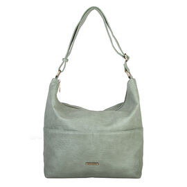 Bulaggi Collection - Puff Hobo Shoulder Bag with Adjustable Strap (Size 34x34x12cm) - Mint