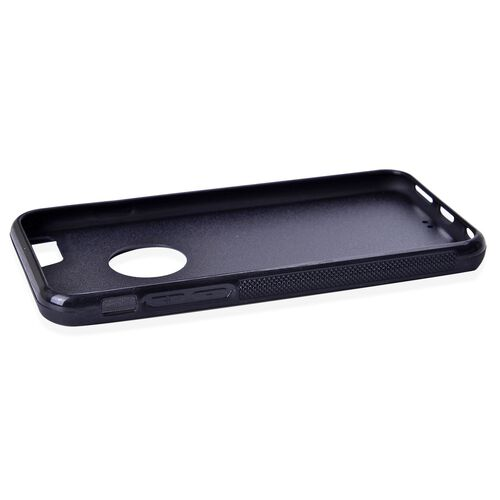 Antigravity iPHONE 6S Phone Cover Black with Logo Hole and Toughened Membrane (Size 14x7 Cm)