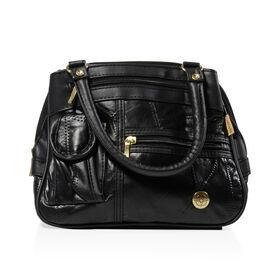Mega Closeout Deal - Black Colour Leather Handbag