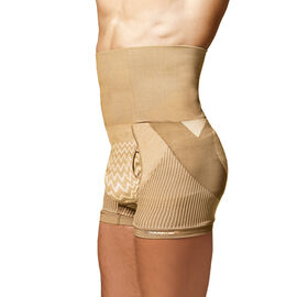 SANKOM Patent Body Back-Brace Men Aloe Vera Fibers Shapers Shorts Beige Colour
