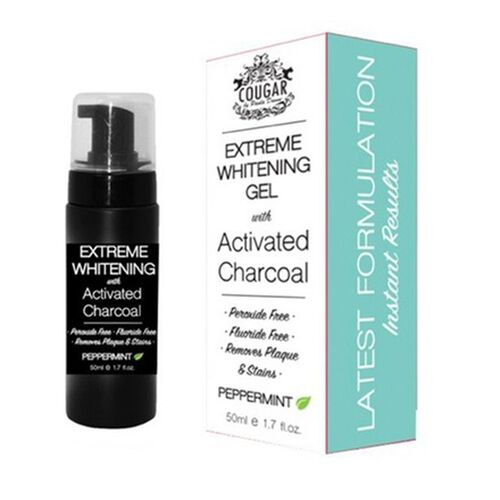 Cougar: Extreme Whitening With Activated Charcoal - 50ml