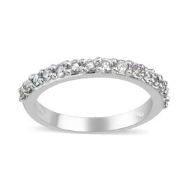 Signature Collection 950 Platinum SGL Certified Diamond (VS/F-G) Ring 0.35 Ct, Platinum wt 3.40 Gms