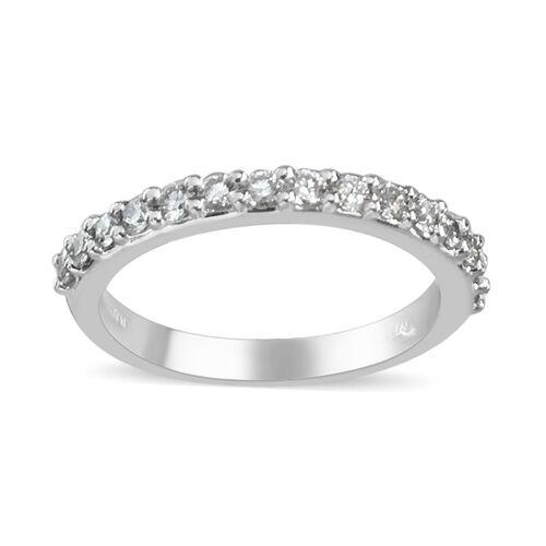 Signature Collection 950 Platinum SGL Certified Diamond (VS/F-G) Ring 0.35 Ct, Platinum wt 3.40 Gms