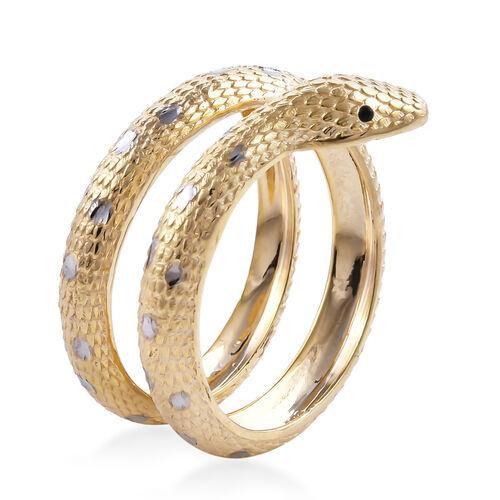 Designer Inspired- Surabaya Gold Collection 9K Yellow Gold Serpentine Ring,