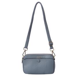 Sencillez 100% Genuine Leather Crossbody Bag with Adjustable Shoulder Strap in Blue