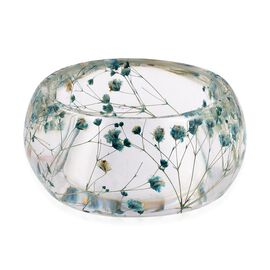 Handmade Blue Colour Real Dried Flower Resin Bangle