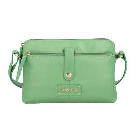 UNION CODE Super Soft 100% Genuine Leather Multi Pocket Crossbody Sling Bag with Zipper Closure (Siz
