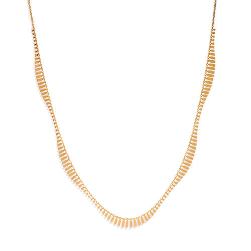 9K Yellow Gold Cleopatra Necklace (Size 17 with 3 inch Extender), Gold wt 4.85 Gms.