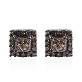0.50 Ct Natural Champagne Diamond Stud Earrings in 14K Gold