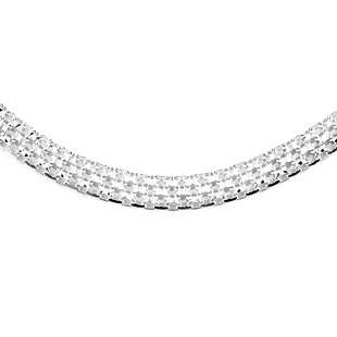 Vicenza Close Out Sterling Silver Bismark Necklace, Silver wt 6.30 Gms.