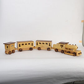 Handmade Wooden Train Toy with Compartments (Size 94x7x10.75 Cm)